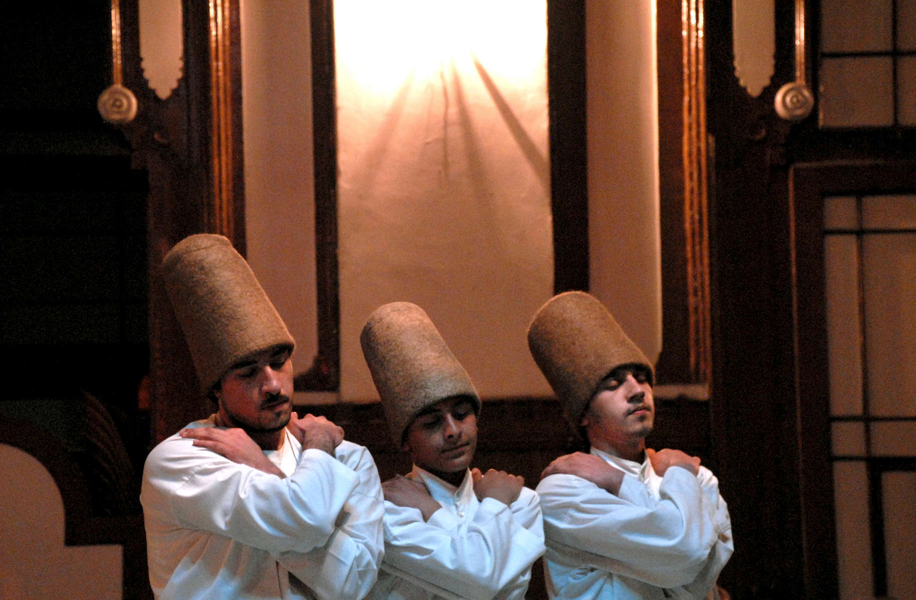 Sufi dervish dancers before a ceremony in Istanbul, Turkey 2008