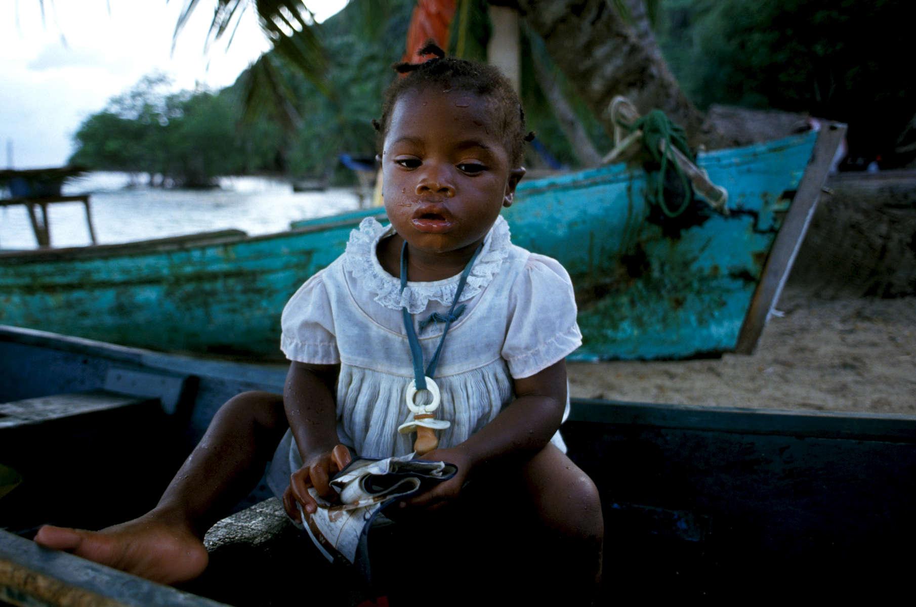 Honduran girl from the Bay Islands 1993