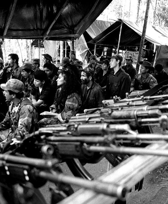 FARC counterespionage jungle classroom, Caqueta region, Colombia, 2001
