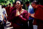 Osho follower blessed by His Holiness, Dalai Lama