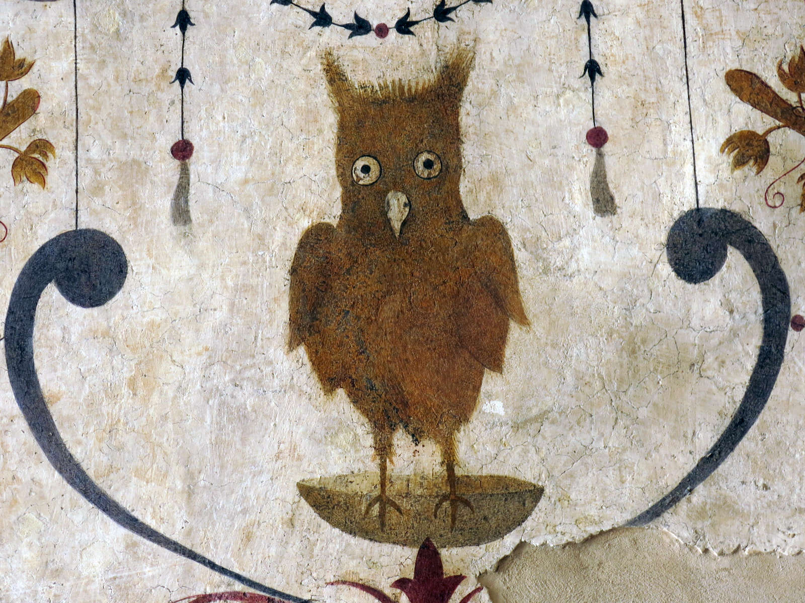 detail of a mural in Assisi, Italy which caught my eye pursuading me to look beyond the veil of dusk...