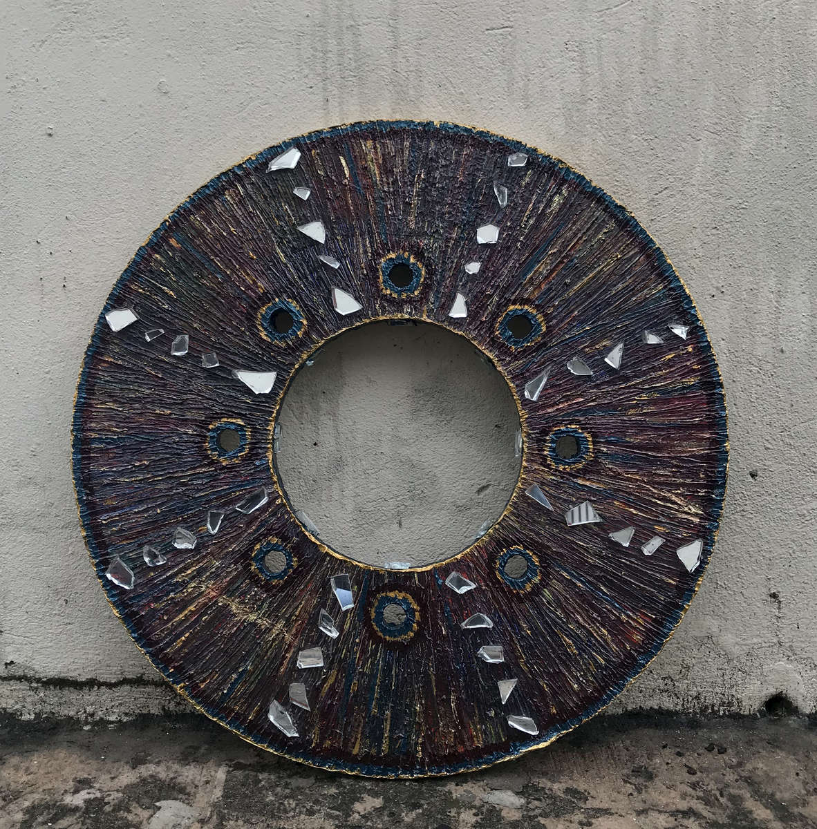 Acrylics and car paint on Glastherm disk$400SOLD