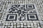 ancient minecraft portal in the streets of Prague