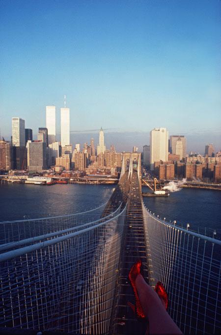 atop the Brooklyn Bridge