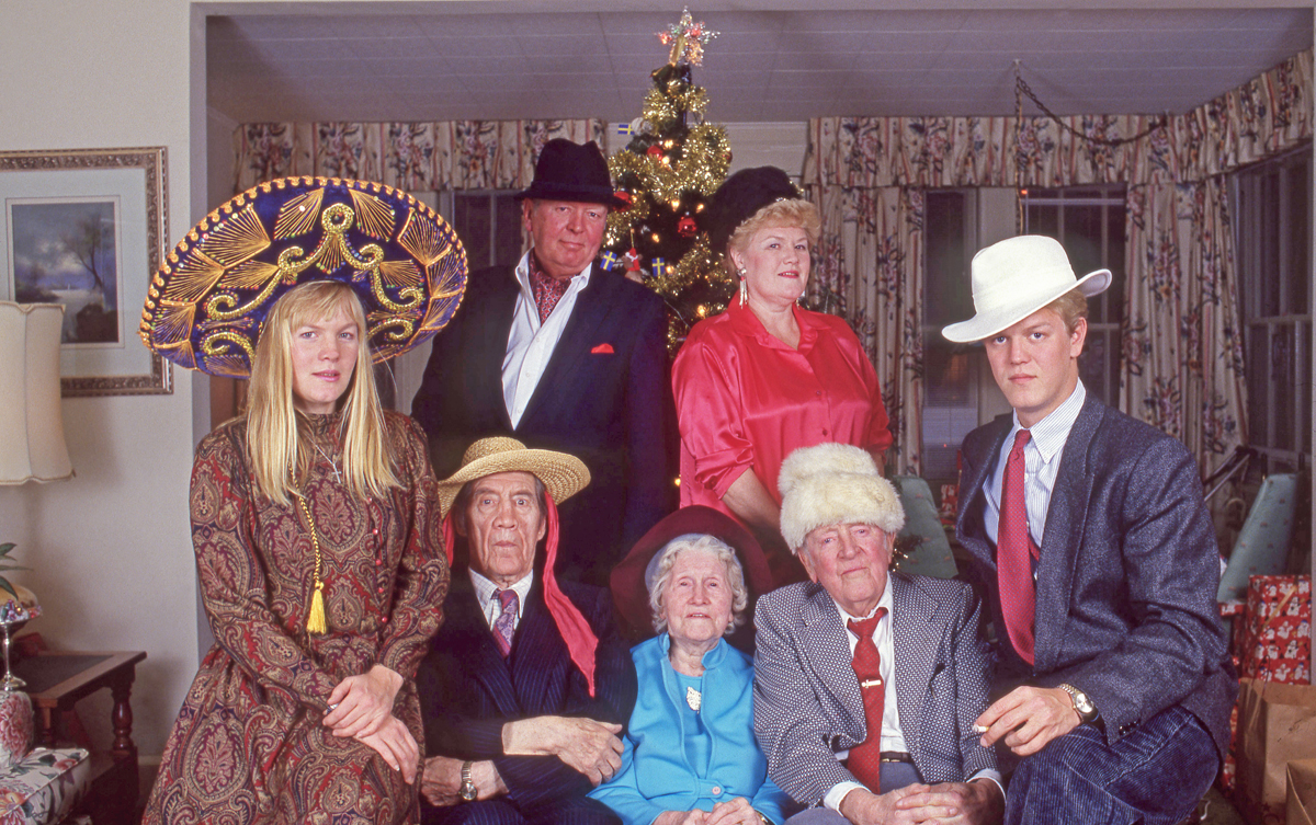 My parents Bob and Doris both had a good sense of humor. I set up the tripod with the camera and the self timer, I think it was Dad's idea to put on the hats. I'm sure The Tijuana Brass was playing on the stereo. Grandma Borghild - Tom's wife is missing, she was the first one to die.