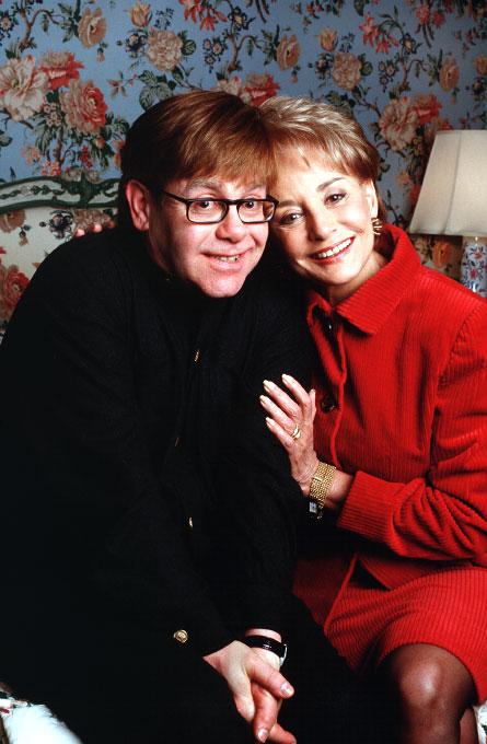 Elton John and Barbara Walters