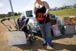 Jennifer Trisdale sells her designer Chanel purse on the side of California's I5 highway to help pay her bills.Anderson, CA.