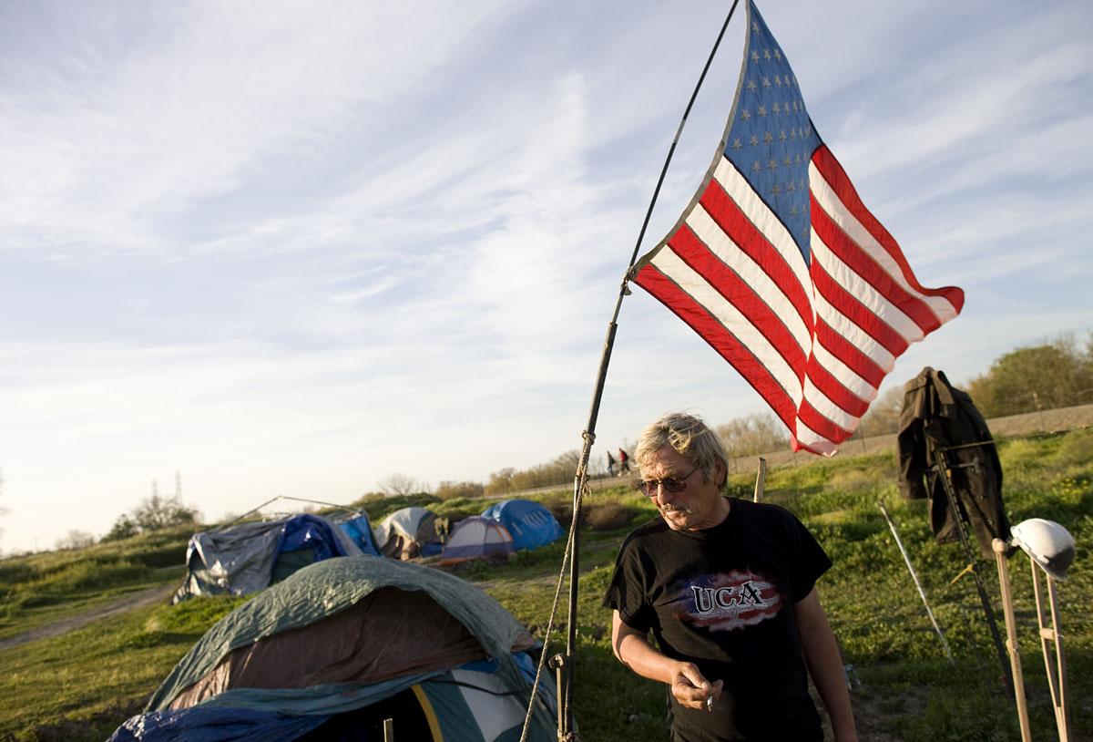 Tent City, Sacramento, CA.