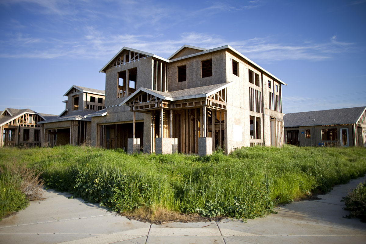 Abandoned housing developments in Merced, CA.