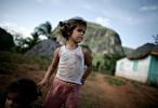 Peasant girls in Vinales, Cuba.
