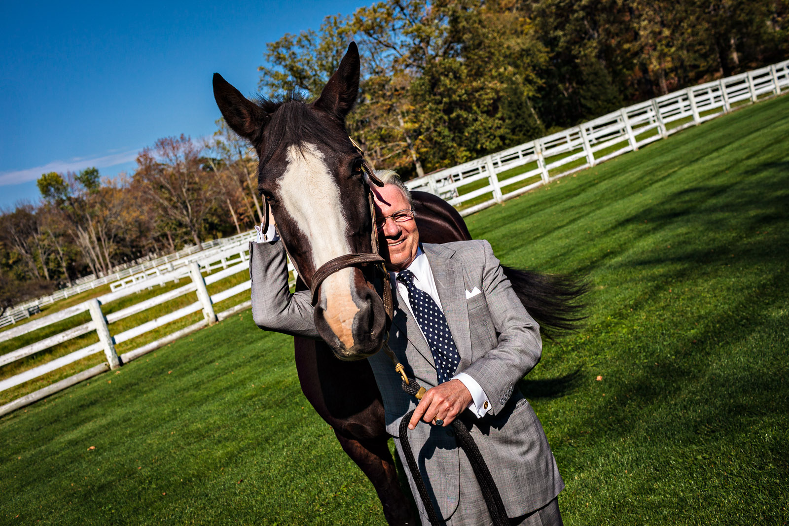 "Thomas Peterffy, founder and CEO of Interactive Brokers, has been voicing his opinion about the impact of high-frequency trading on the markets. Peterffy strongly believes that better monitoring and new regulations must be put in place because this form of trading has gone too far. Petterfy is photographed with his favorite riding horse, ""Ophelia"", at his Greenwich, Conn estate on Tuesday, October 18, 2011.Jesse Neider for the Wall Street Journal"