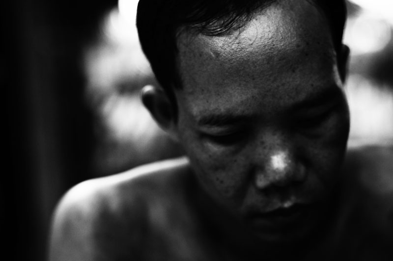 Siem Reap, Dec. 2006: schizophrenic patient