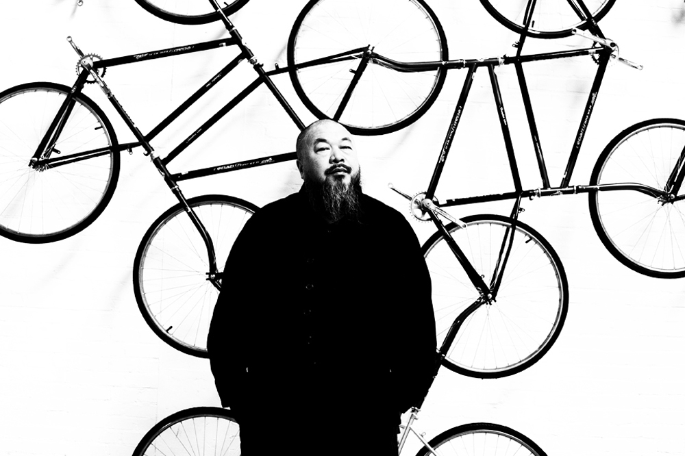 Aiweiwei in his studio, 2011