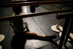 A dancer of the renowned Teatro alla Scala Ballet warms-up for rehearsals in Beijing, November 8, 2006, China.