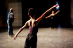 a dancer of teatro alla Scala coaches Chinese ballet students before the final rehearsals with the renowned Teatro alla Scala Ballet in Beijing, November 8, 2006, China.