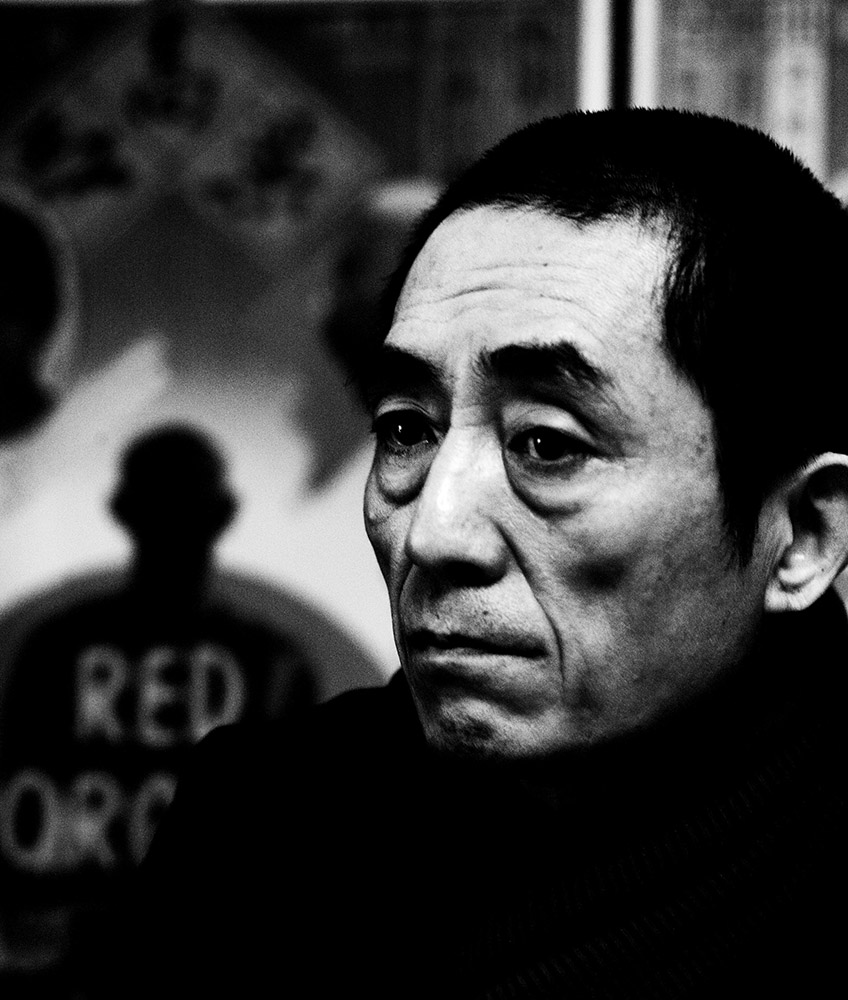 Film director Zhang Yimou in his office , Beijing, 2010