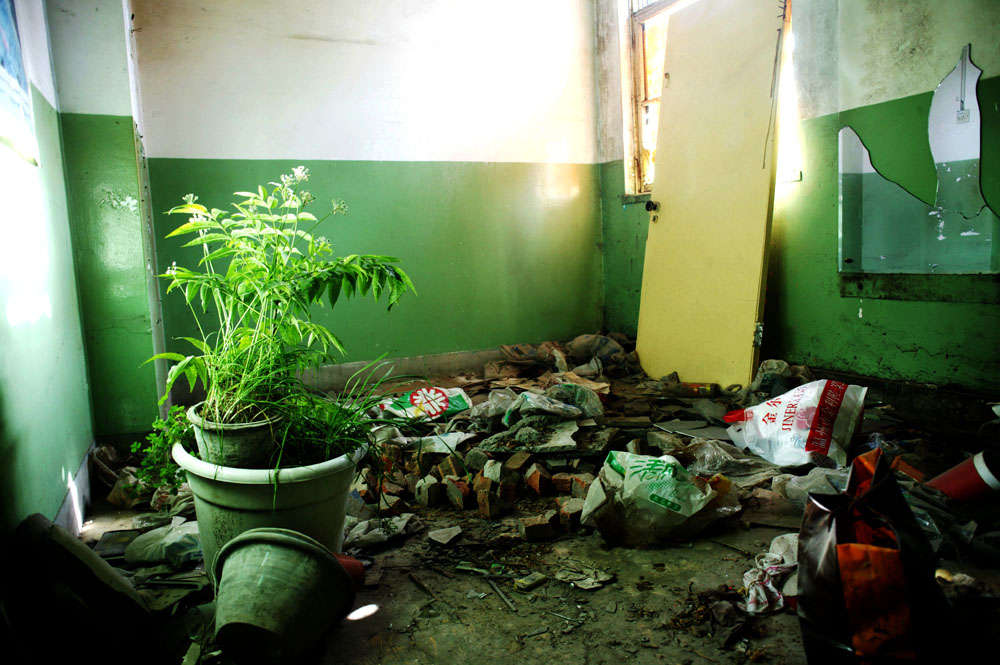 August 2007 : remains of a family that was evicted