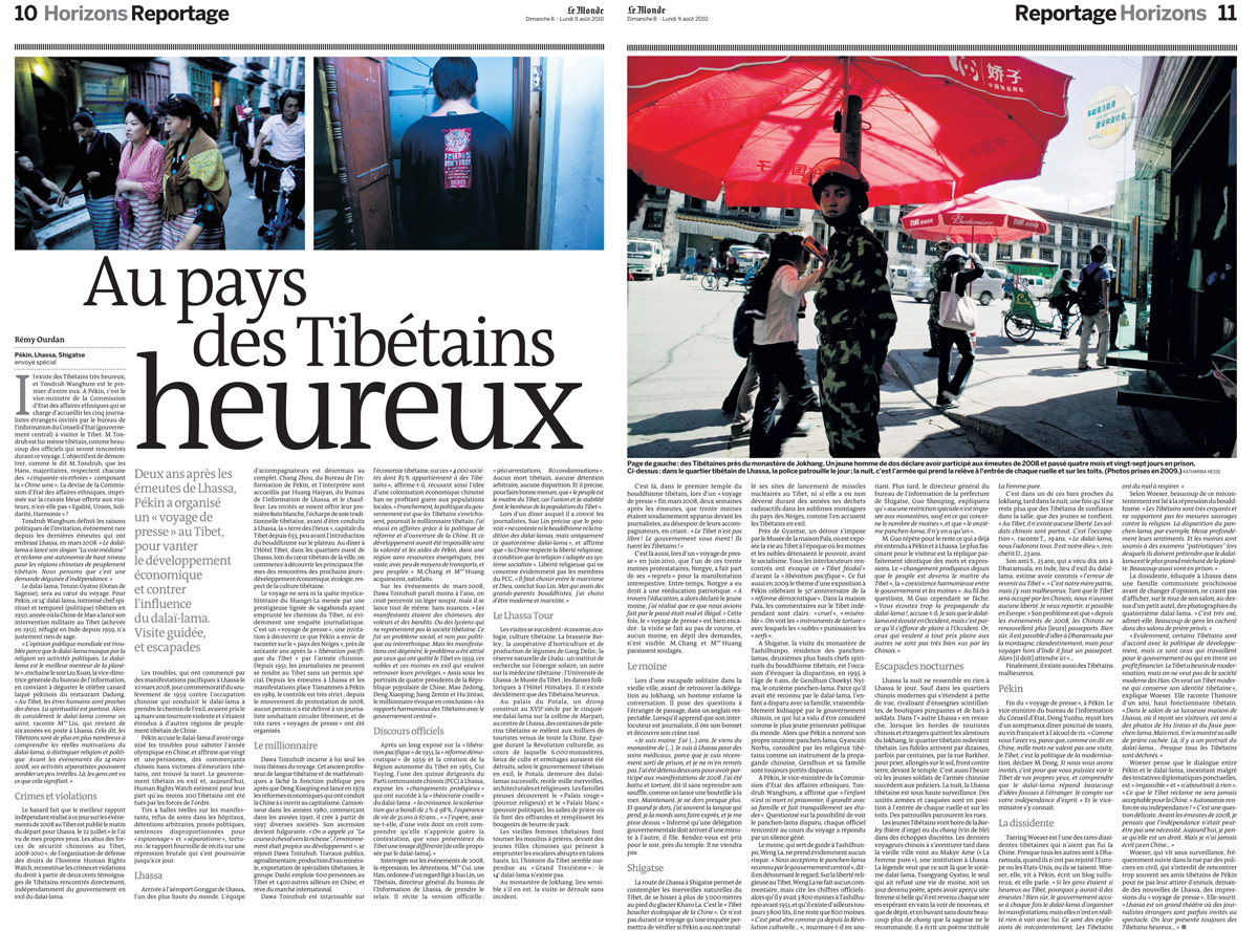 Le Monde 2/2, Aug. 2010