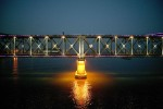 the Friendship bridge in Dandong that connects China and North Korea.