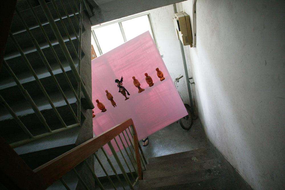 painting in a staircase, Beijing