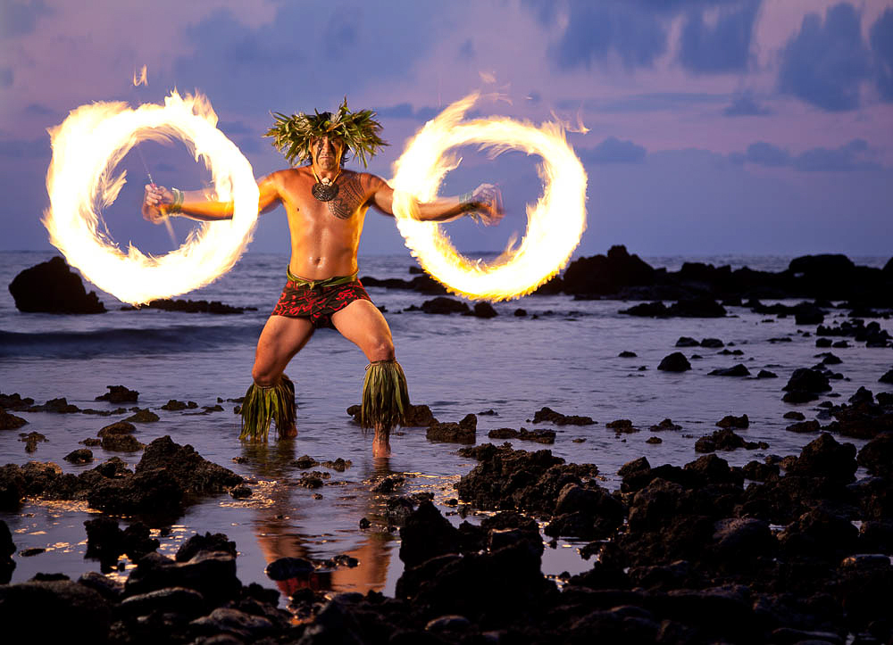 Polynesion Fire DancerHawaii