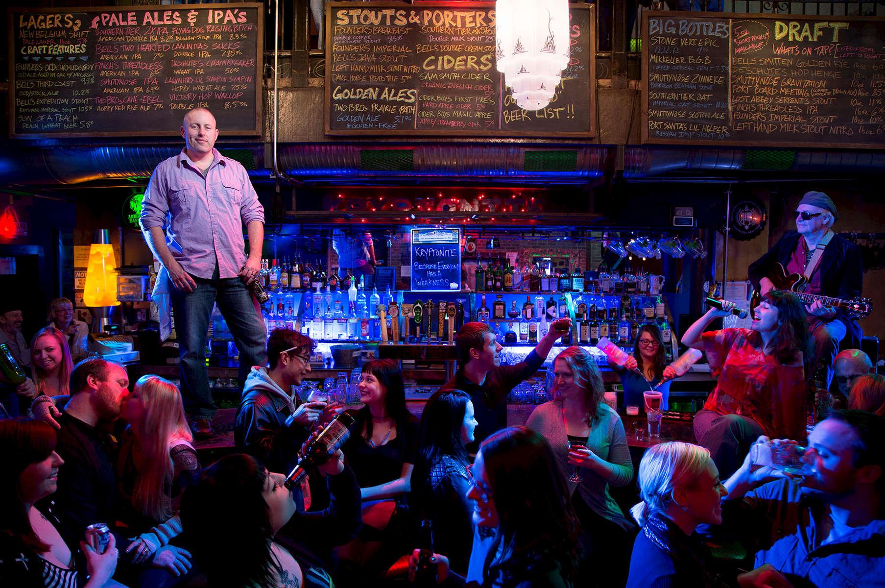 Chris Wachowiak- owner of Kryptonite Bar
