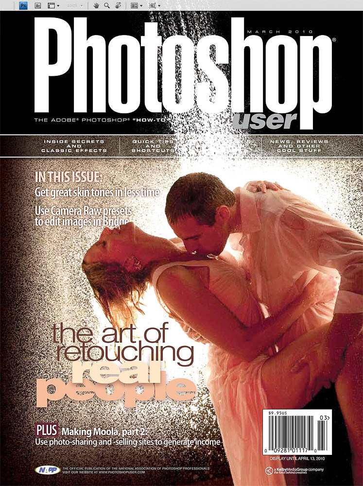 Cover photo for Photoshop User MagazineApril 2010