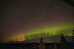 Aurora Borealis on the Alaska Range