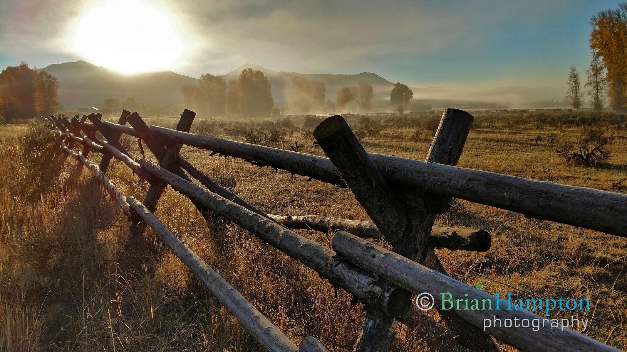 Foggy Sunrise in Wyoming