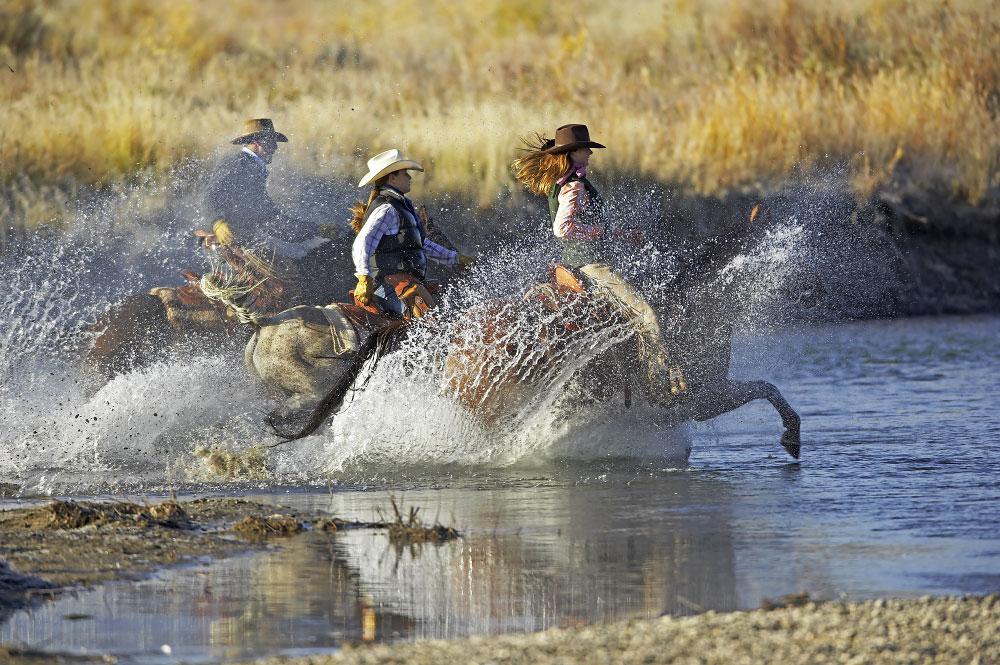 Three Wet Riders
