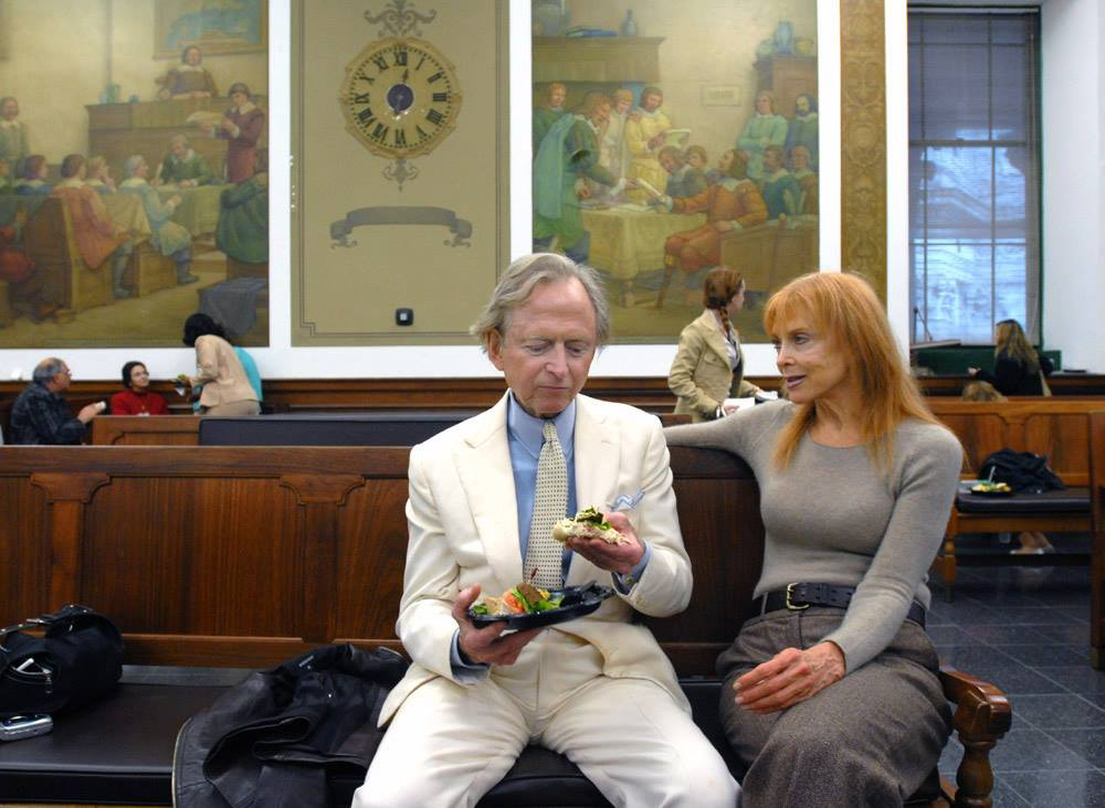 Author Tom Wolfe and Actress Tina Louise - Juror Appreciation Day - Manhattan Supreme Court