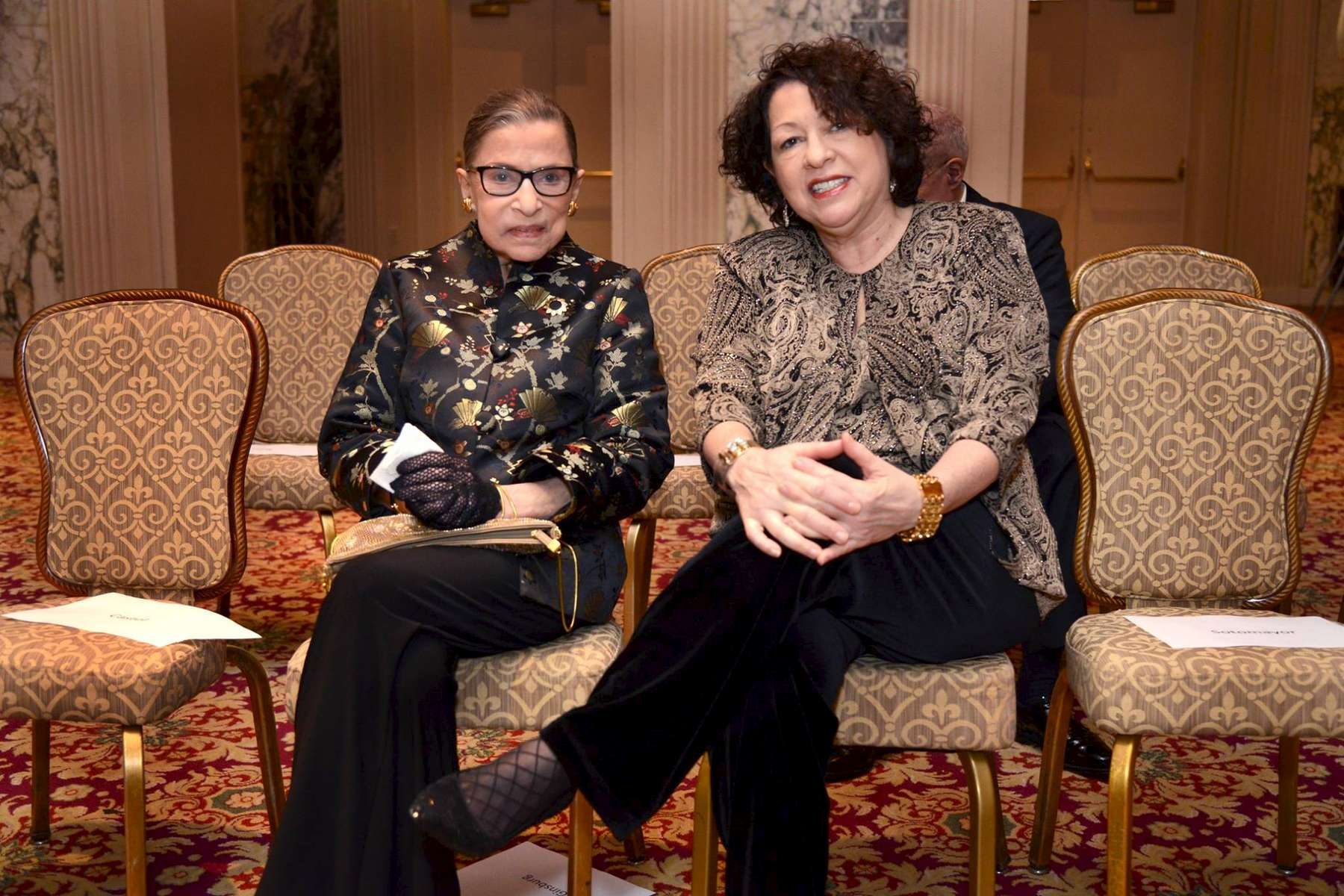 U. S. Supreme Court Justices Ruth Bader Ginsburgh and Sonia Sotomayor