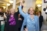 Edie Windsor, left, and her attorney Roberta Kaplan celebrate the Supreme Court Decision in United States v Windsor, overturning The Defense of Marriage Act - June, 2013