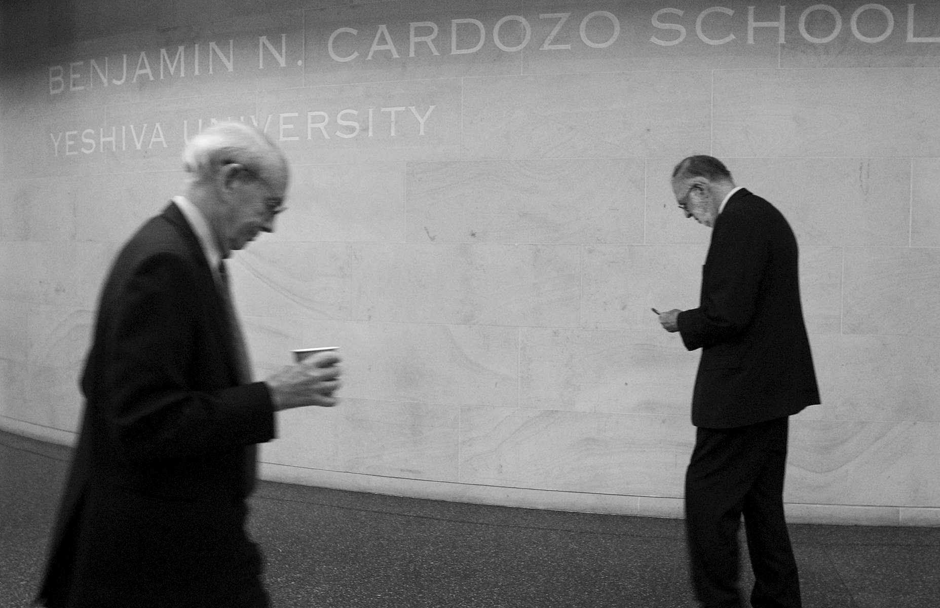 U.S. Supreme Court Justice Stephen Breyer, left, at Cardozo Law School – October, 2010