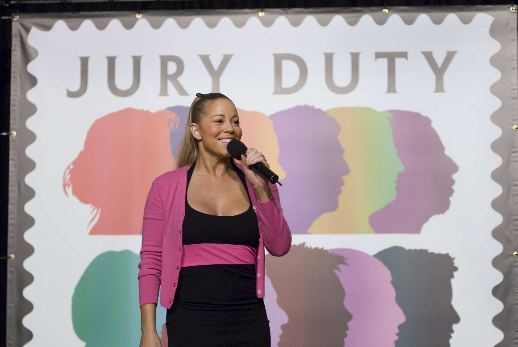 Singer Mariah Carey helped dedicate a USPS stamp on Jury Duty, Rotunda,  State Supreme Court, 60 Centre Street - September, 2007