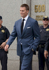 New Englad Patriot Quarterback Tom Brady Leaves Federal Court After Testfying in the {quote}Deflategate{quote} Case. NYC