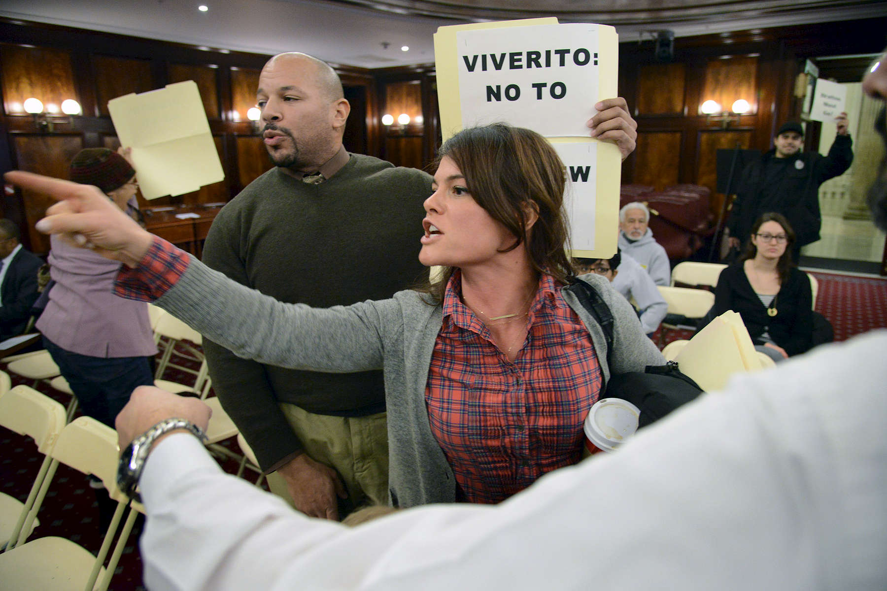 Protest at a New York City Council Meeting. NYC
