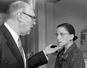 U. S. Supreme Court Justices Ruth Bader Ginsburgh and her Husband Martin Ginsburg
