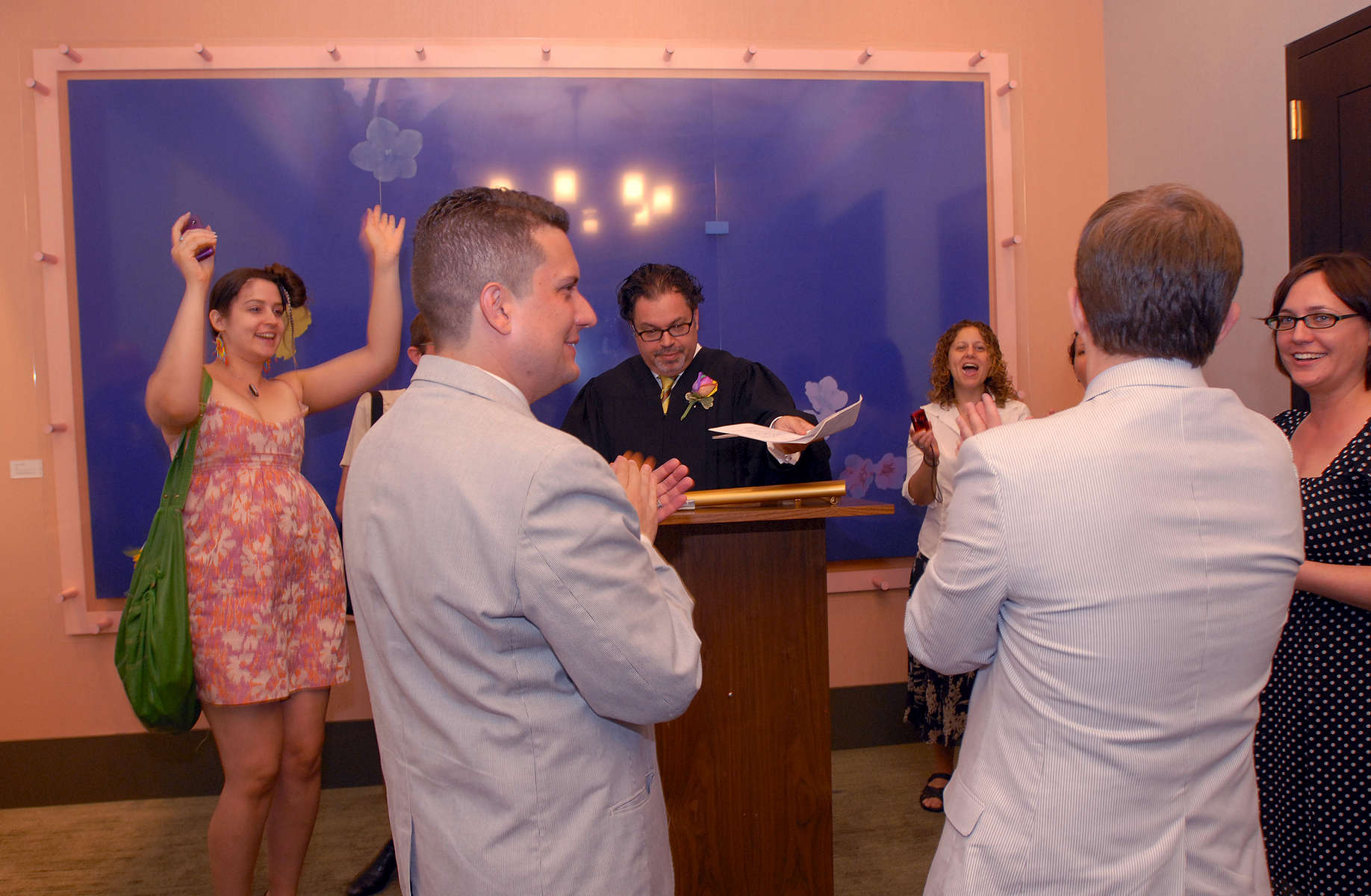 A Marriage on First Day When Gay Weddings were Legalized in New York State.