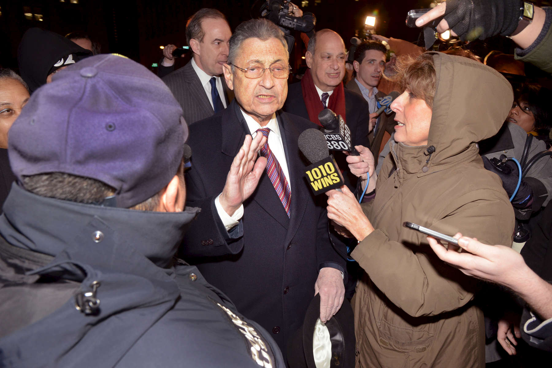 New York State Assembly Speaker Sheldon Silver, after his conviction in Federal Court, NYC