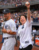 U. S. Supreme Court Justice Sonia Sotomayor and NY Yankees Catcher Jorge Posada