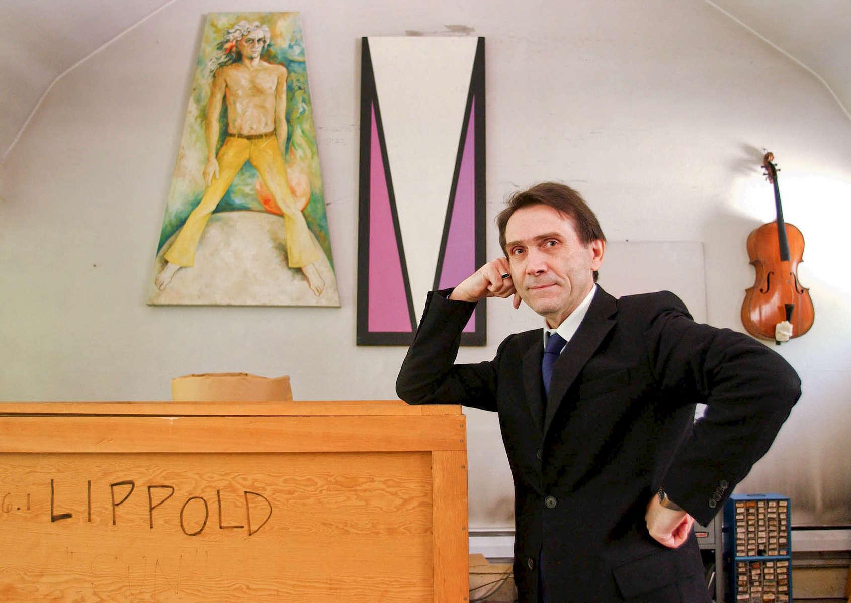 Augusto Mocelli at the Lippold House at Lattingtown, NY