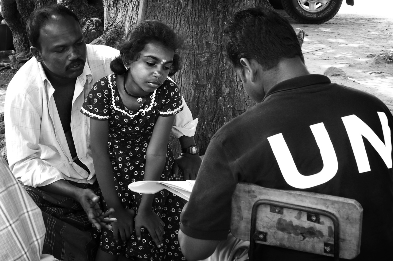 Verugal, LTTE controlled areaUN staffer interviews ethnic Tamils who fled Sampur as the fighting escalated.