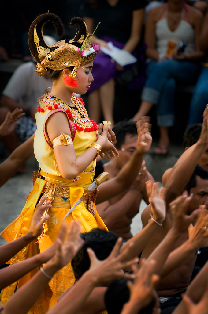 Sita walking through magic protection cycle.