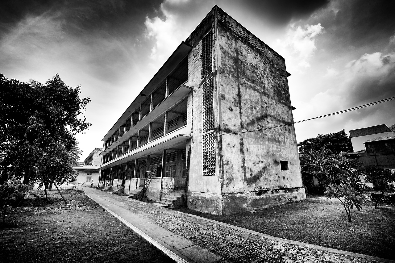 Once a suburban high school on the outskirts of Phnom Penh, Tuol Sleng was turned into the interrogation center and occupied four three-story buildings.