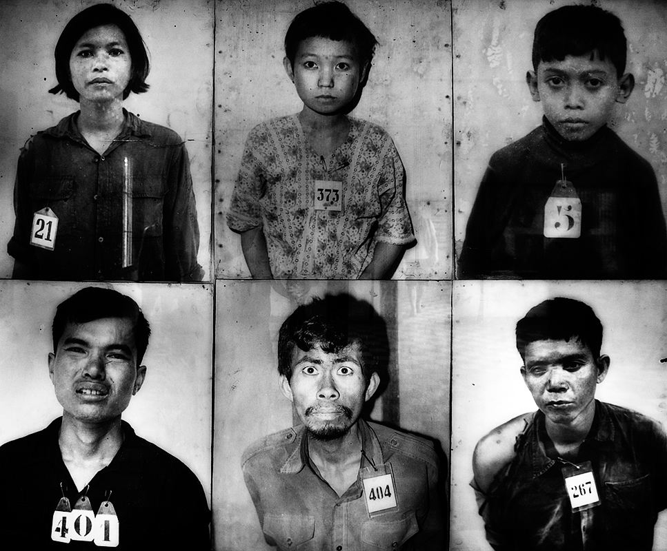 Those who were accused of treason were brought to S-21 with their families and were photographed when they arrived.