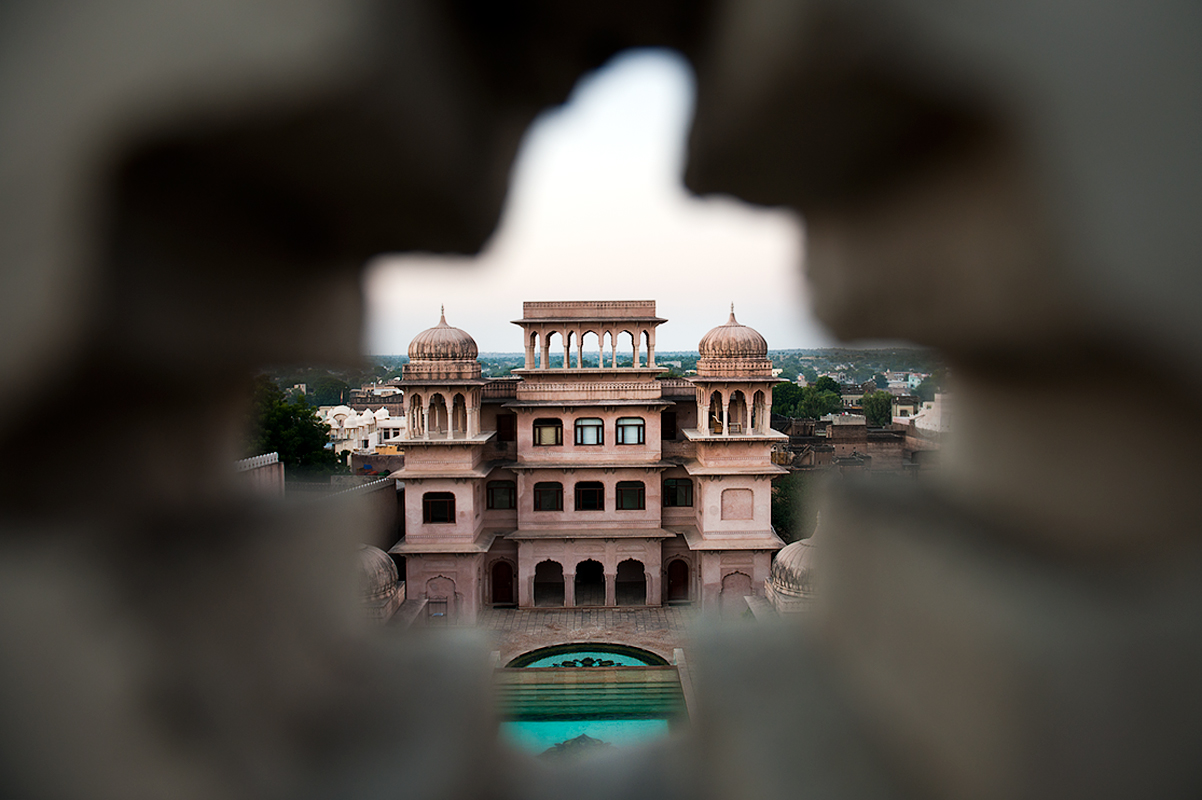 view of the heritage hotel castle Mandawa, Mandawa Rajastan.