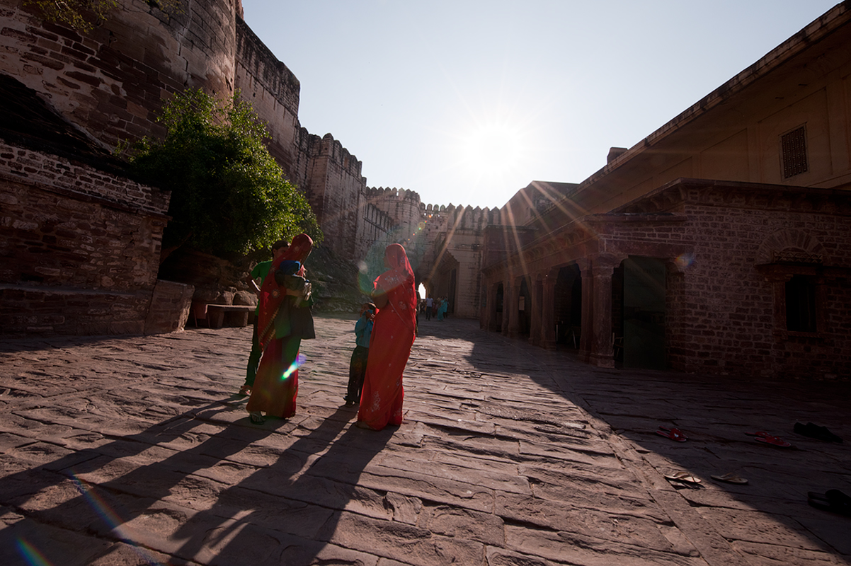 Inside the walls of Mahrangarh Fort, Jodhpur