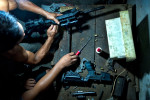 The workshop repairs all types of guns and calibers. Clients include the Army, the police, MILF rebels, civilians and anyone who brings the gun for repair. The gun license is not required