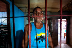 Anahleto Cesneros, the owner of the gun repair shop says that the business is very good and that the costumers include everyone who brings a gun for repair including rebels, the army, the police and citizens.